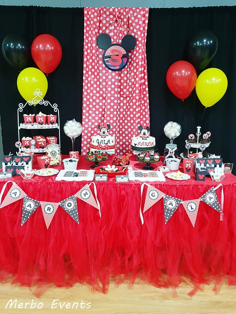 cumpleaños minnei y mickey merbo events