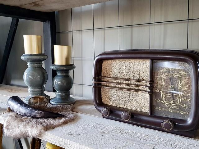 Antieke radio kandelaars
