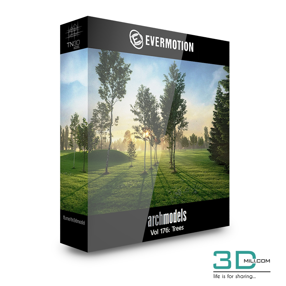 Evermotion Archmodels Vol 176 Trees 3dmili 2020