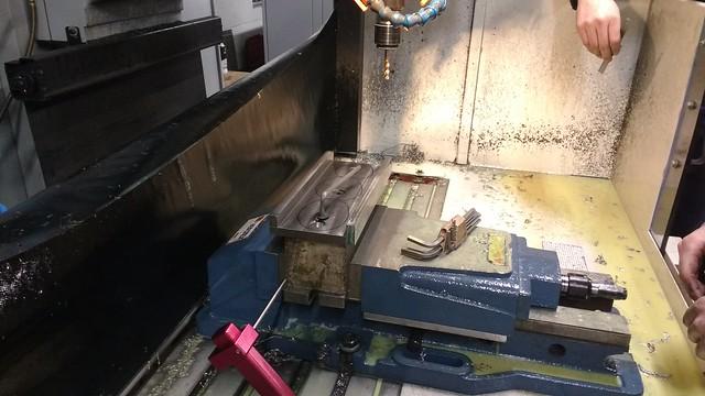 Test Fitting of Axlebox Slipper on Machining Jig