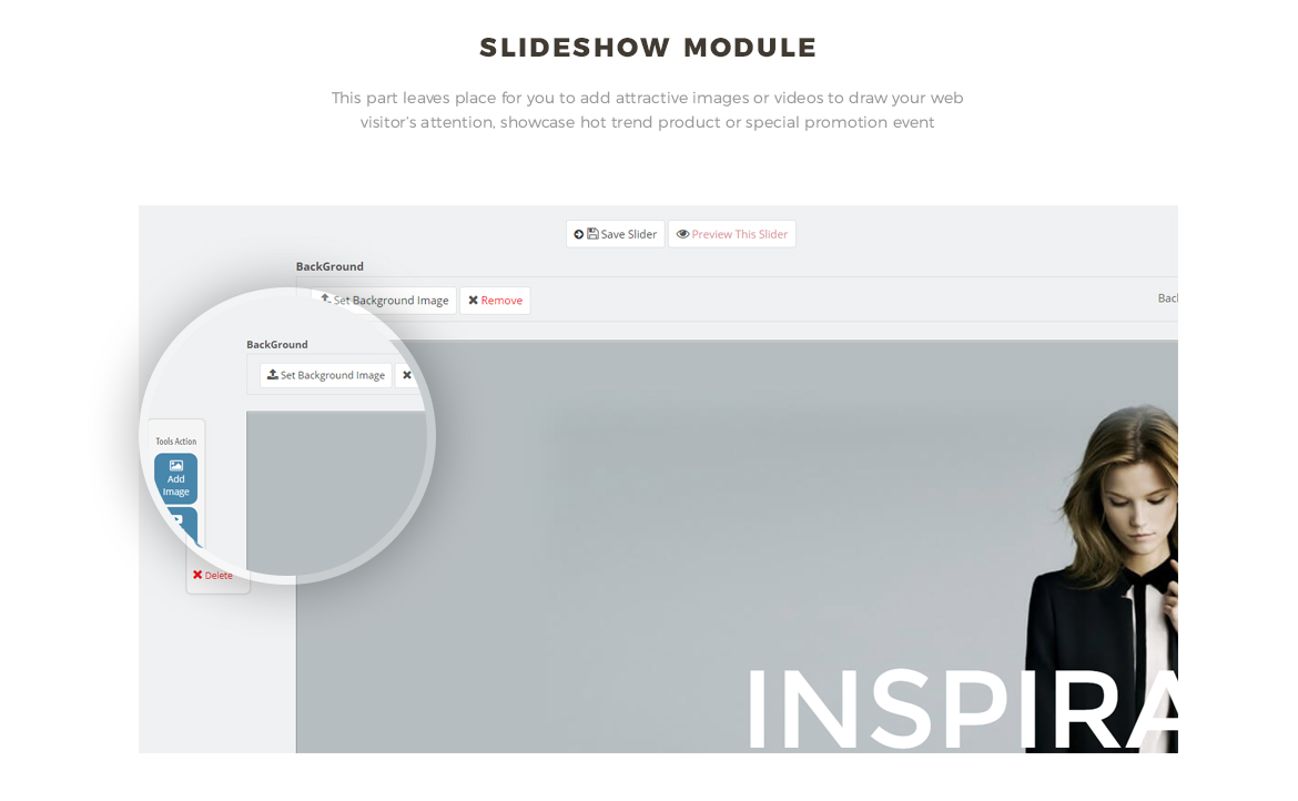 Slide show module for Fashion prestashop theme