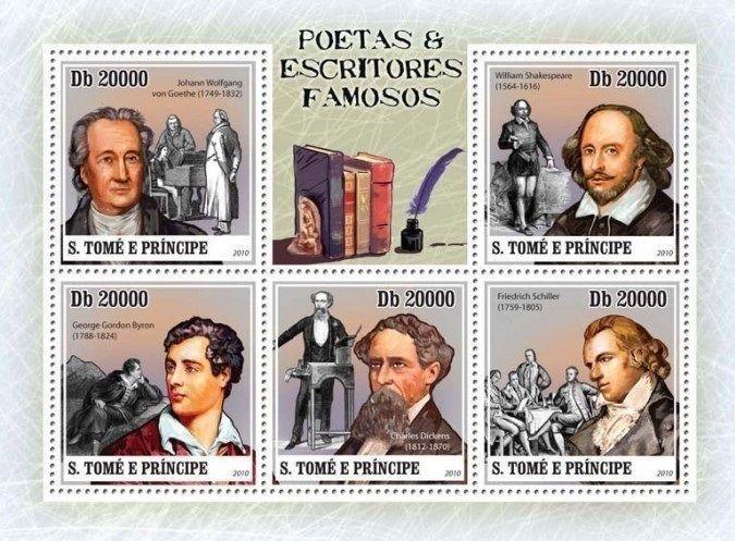 São Tomé and Príncipe - StampWorld.com #4408-4412 (2010) miniature sheet