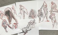 2 minute, 5 minute Gestures - Figure Drawing