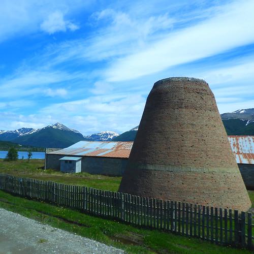 The Lago Escondido saw mill by the Escondido Lake, Ushuaia, Tierra del Fuego, Patagonia, Argentina