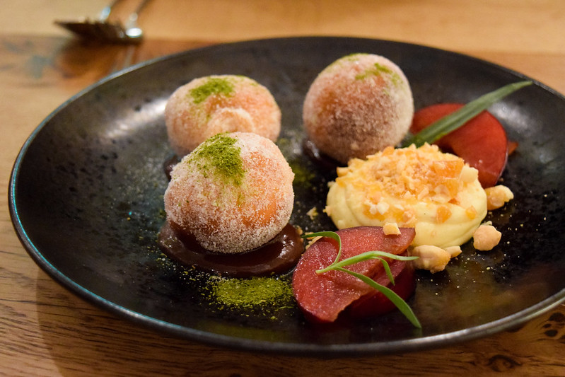 Plum and Juniper Doughnuts with Tarragon at Rovi, Fitzrovia