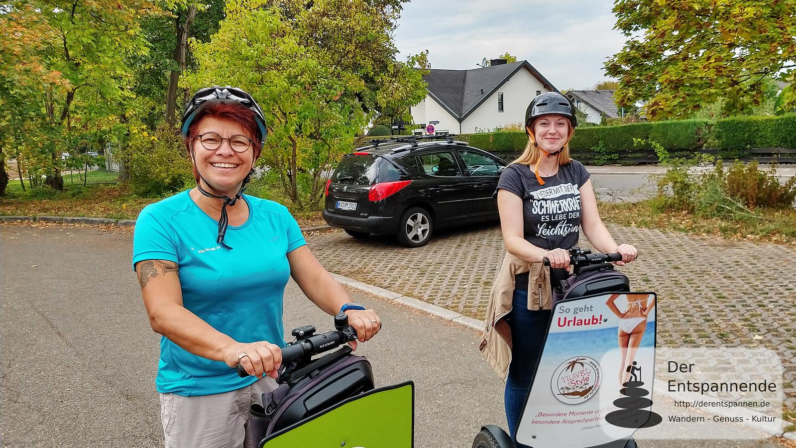 Segway-Tour mit Cityseg: Anita Becker und Julia Strickfaden