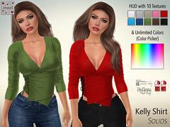 Maci ~ Kelly Shirt Solids