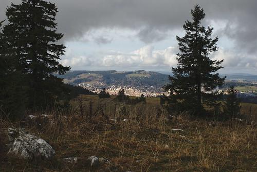 La Chaux-de-Fonds, vu du Mont d'Amin