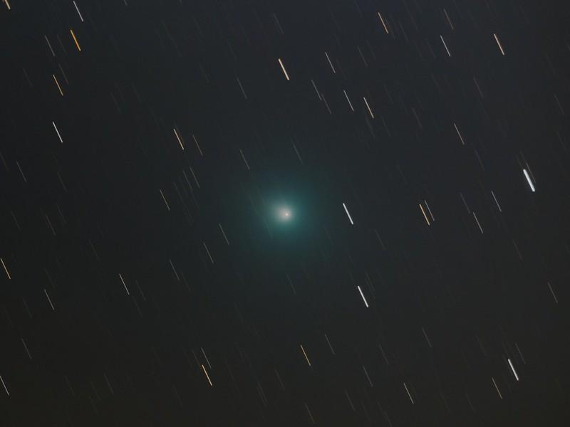 46P ウィルタネン彗星 (2018/12/13 23:25-23:58 彗星核基準コンポジット)
