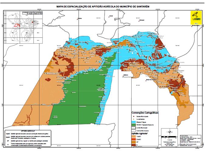 Mapa da Soja em Santarém