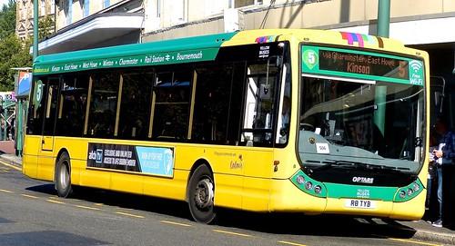 R8 TYB 'Yellow Buses' No. 869 'green 5'. Optare Tempo X1200 on Dennis Basford's railsroadsrunways.blogspot.co.uk'