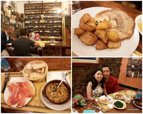 Lunch at Fiaschetteria Osteria Nuvoli