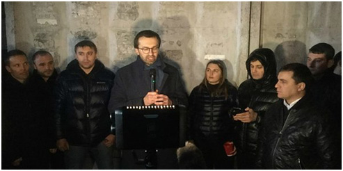 Сергей Лещенко торкает речь