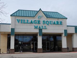 "Mall Entrance - ""Village Square Mall"" Dodge City, Kansas"