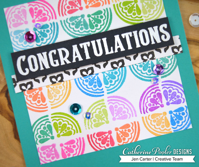 Jen Carter Adoring Congratulations Sentiments Rainbow Closeup 1