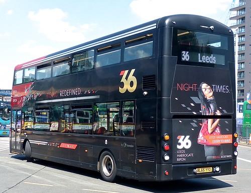 BL65 YYO 'The Harrogate Bus Company' No. 3616 '36'. Volvo B5TL / Wright Gemini 3 /2 on Dennis Basford's railsroadsrunways.blogspot.co.uk'