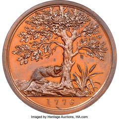 Washington - Franklin American Beaver Medal reverse