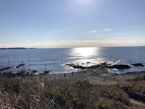ソレイユの丘キャンプ場そばの海
