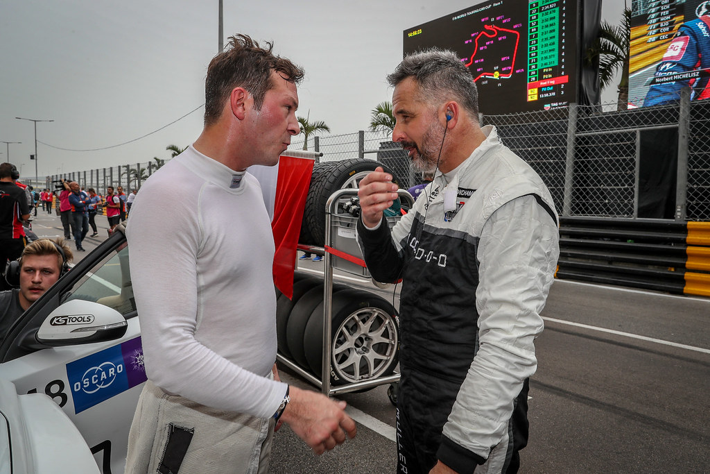 VERNAY Jean-Karl, (fra), Audi RS3 LMS TCR team Audi Sport Leopard Lukoil, portrait, MULLER Yvan, (fra), Hyundai i30 N TCR team Yvan Muller Racing, portrait during the 2018 FIA WTCR World Touring Car cup of Macau, Circuito da Guia, from november  15 to 18 - Photo Alexandre Guillaumot / DPPI