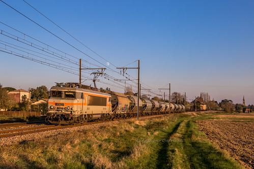 19 novembre 2018  BB 7440  Train 58880 Sibelin -> Bordeaux-Hourcade Lamothe-Landerron (33)