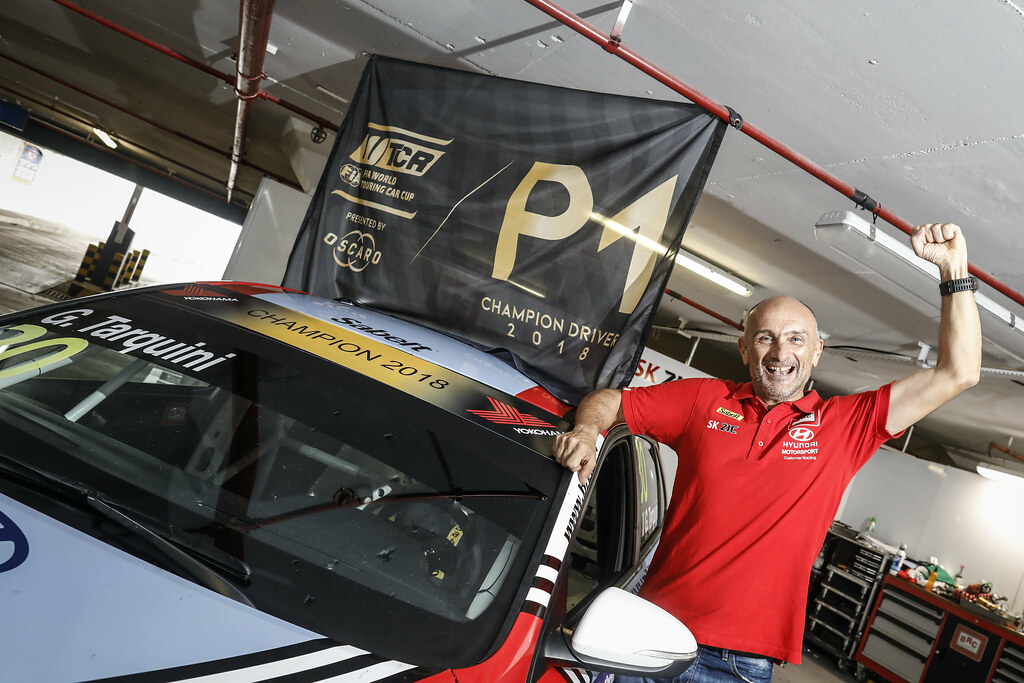 TARQUINI Gabriele, (ita), Hyundai i30 N TCR team BRC Racing, portrait world champion during the 2018 FIA WTCR World Touring Car cup of Macau, Circuito da Guia, from november  15 to 18 - Photo Francois Flamand / DPPI