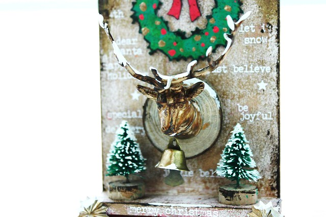 Meihsia Liu Simply Paper Crafts Mixed Media Tag Gift It Christmas Decor Simon Says Stamp Tim Holtz 4