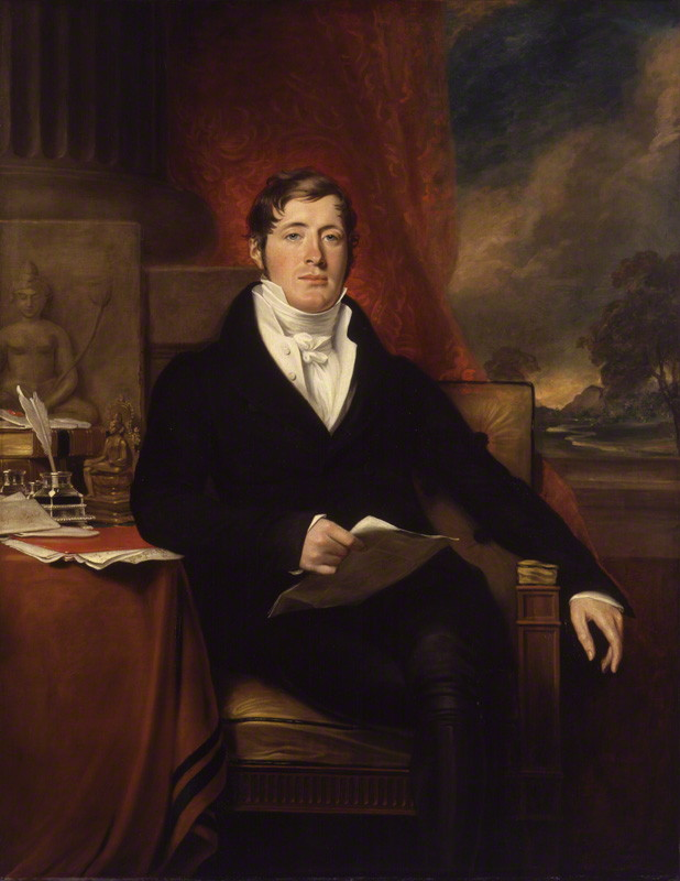 Sir Thomas Stamford Bingley Raffles, oil on canvas by George Francis Joseph, 1817. Currently in the collections of the National Portrait Gallery.