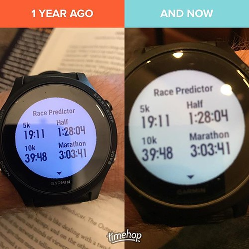 A year later, Garmin is telling me the same. Thing is, this year I have the base to get close to three of these. Three more weeks until the half...