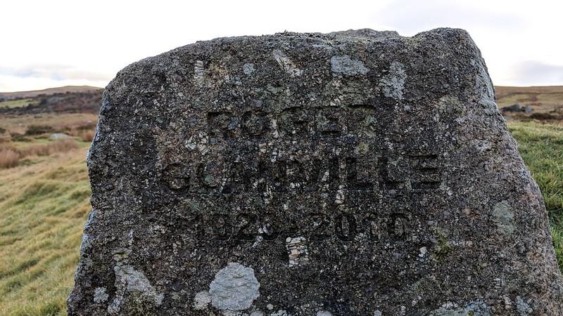 "Roger Glanville Memorial Rock ""1920-2010"""