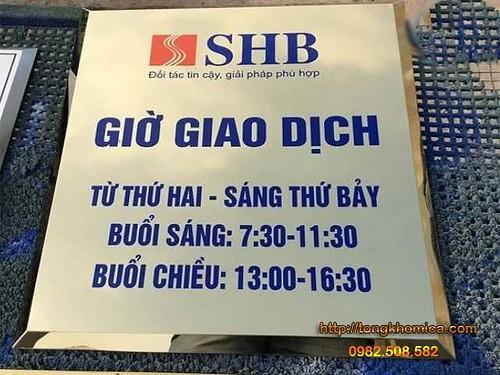 in bảng hiệu inox ngân hang SHB