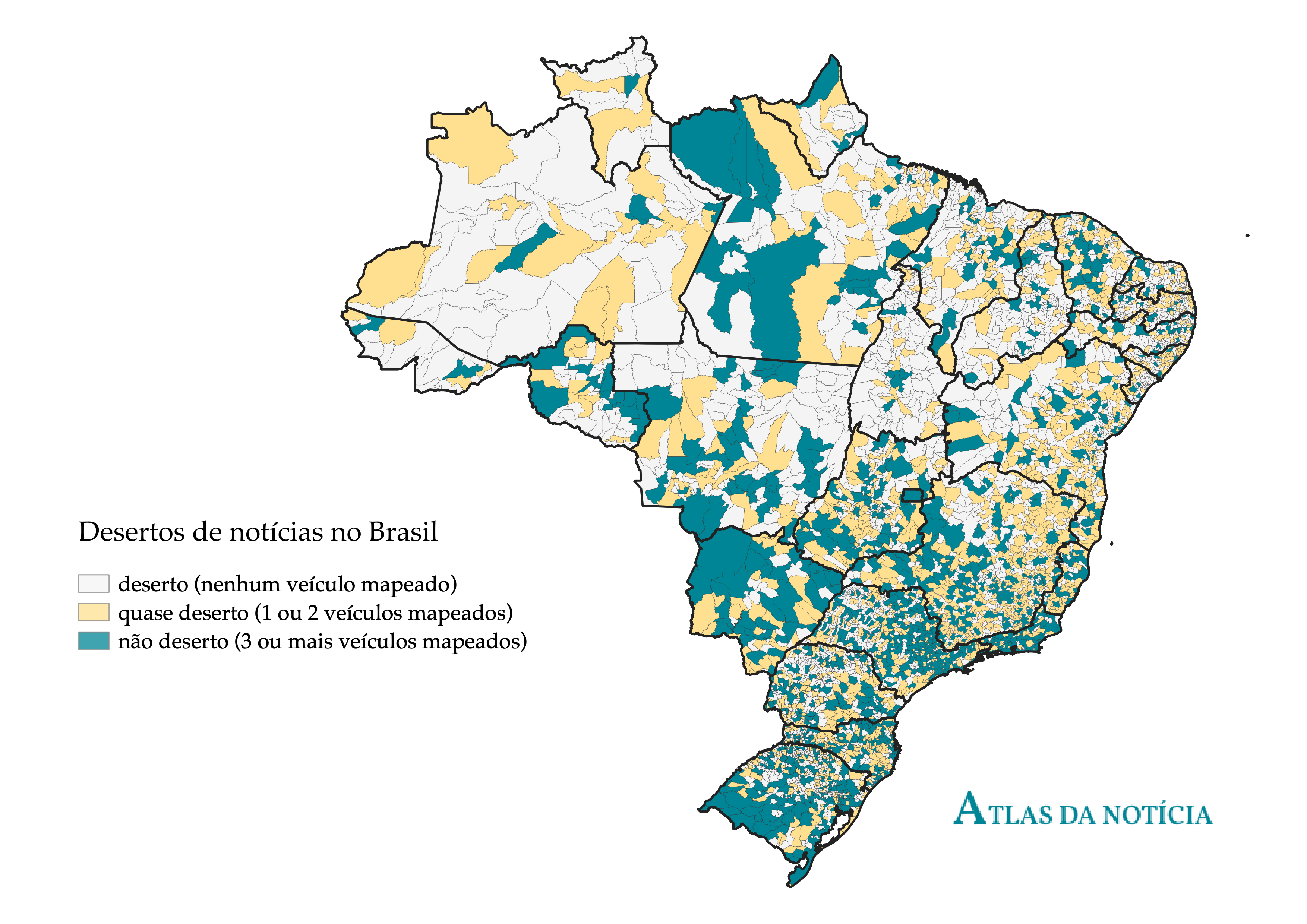 Casi un tercio de ciudades brasileñas corre el riesgo de convertirse en desiertos de noticias, según investigación