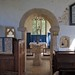 036-20180927_Great Washbourne Church-Gloucestershire-Norman Chancel Arch with adjacent gothic squints viewed from centre of Nave