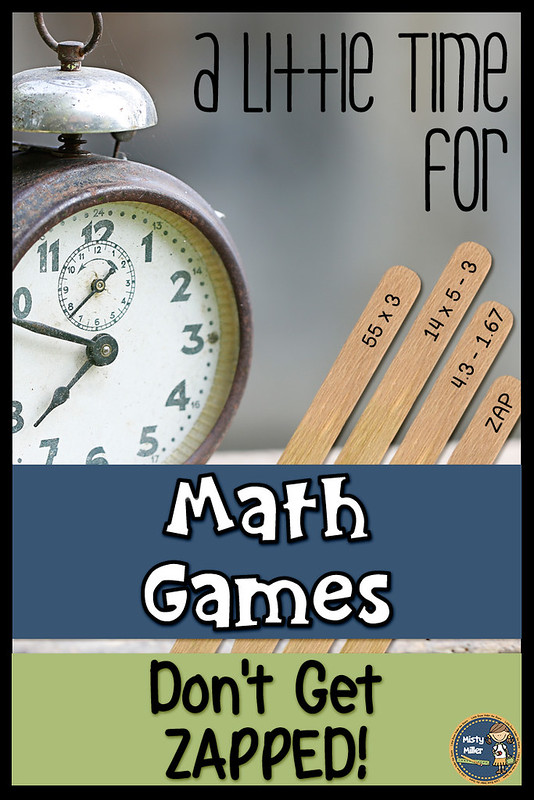 Don't Get ZAPPED is an exciting math game for students to review math skills with a partner or small group.