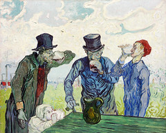 The Drinkers (1890) by Vincent Van Gogh. Original from the Art Institute of Chicago. Digitally enhanced by rawpixel.