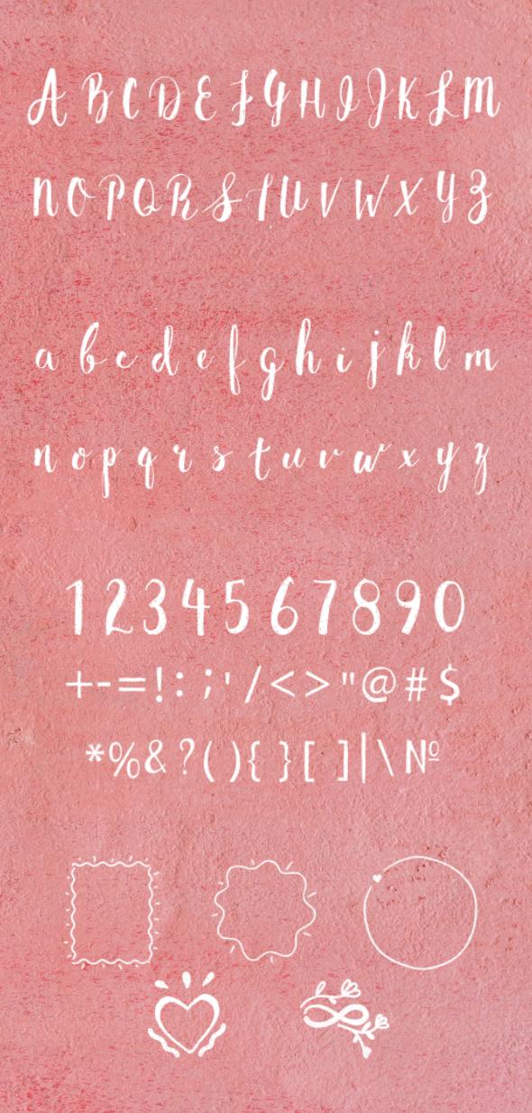Brush Alphabet