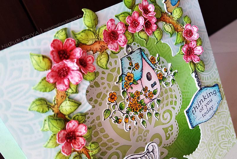 Cherry Blossom Box Card 4_Nupur Creatives