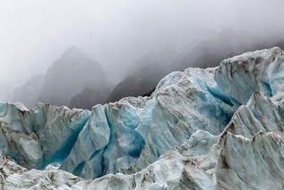 Fox Glacier in the Clouds