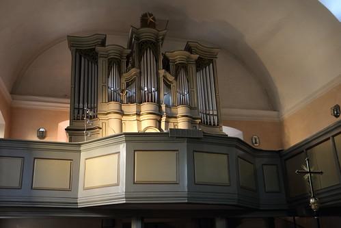 Niederfüllbach, Schlosskirche, Wiegleb-Orgel, 1777