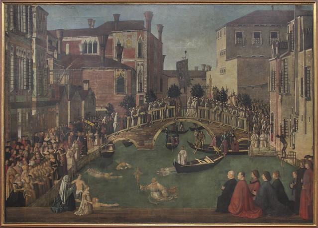 Miracolo della reliquia della Croce al ponte di San Lorenzo, Gentile Bellini, 1429-1507