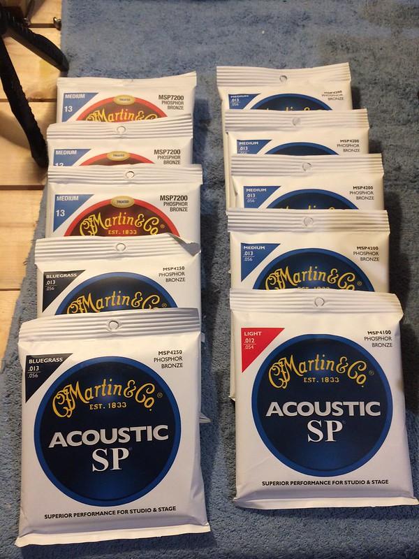 Martin MA545 Authentic Acoustic Guitar Strings Phos Bronze Light Medium 12.5-55