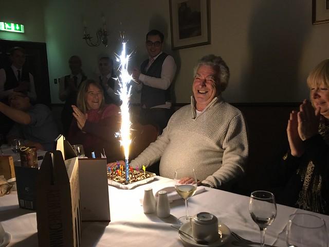 Gerry Hawkridge has a late birthday