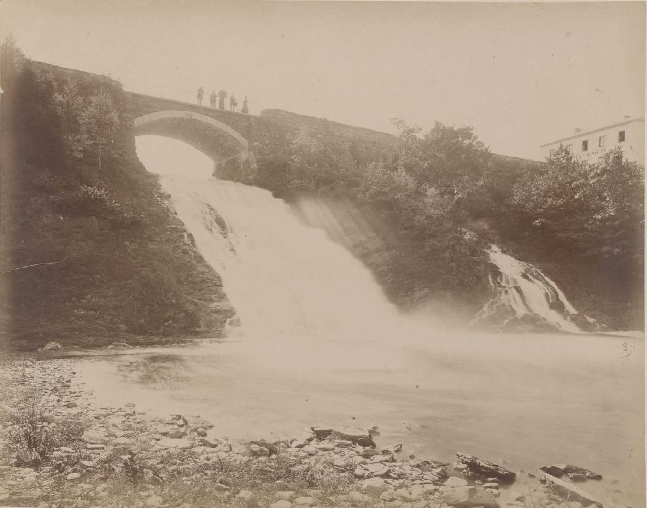 Бельгия. Окрестности Спа. Водопады Coo, 21 мая 1888