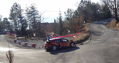 Ogier at Basse Correo Stage on Monte-Carlo Rally (8) - Photo of Lettret