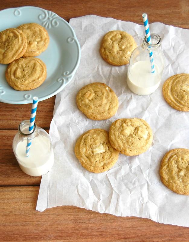 Cookies de laranja e chocolate branco