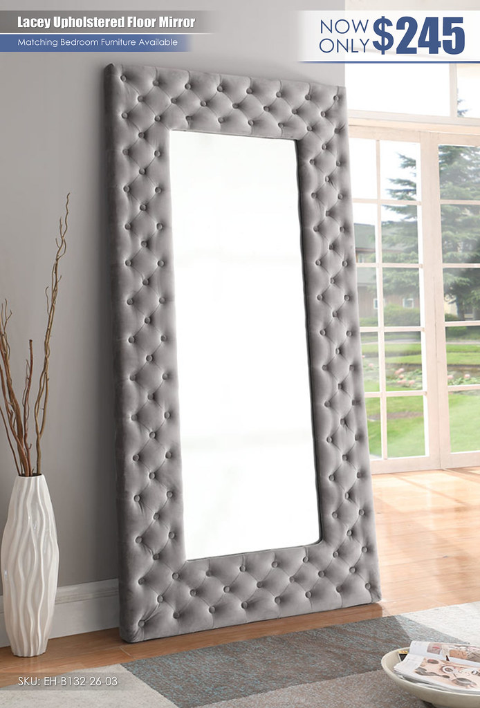 Lacey Upholstered Floor MirrorEH-B132-26-03