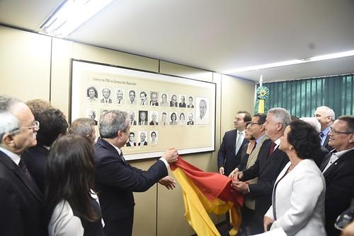 Inauguração da galeria de ex-líderes da bancada do PSB na Câmara