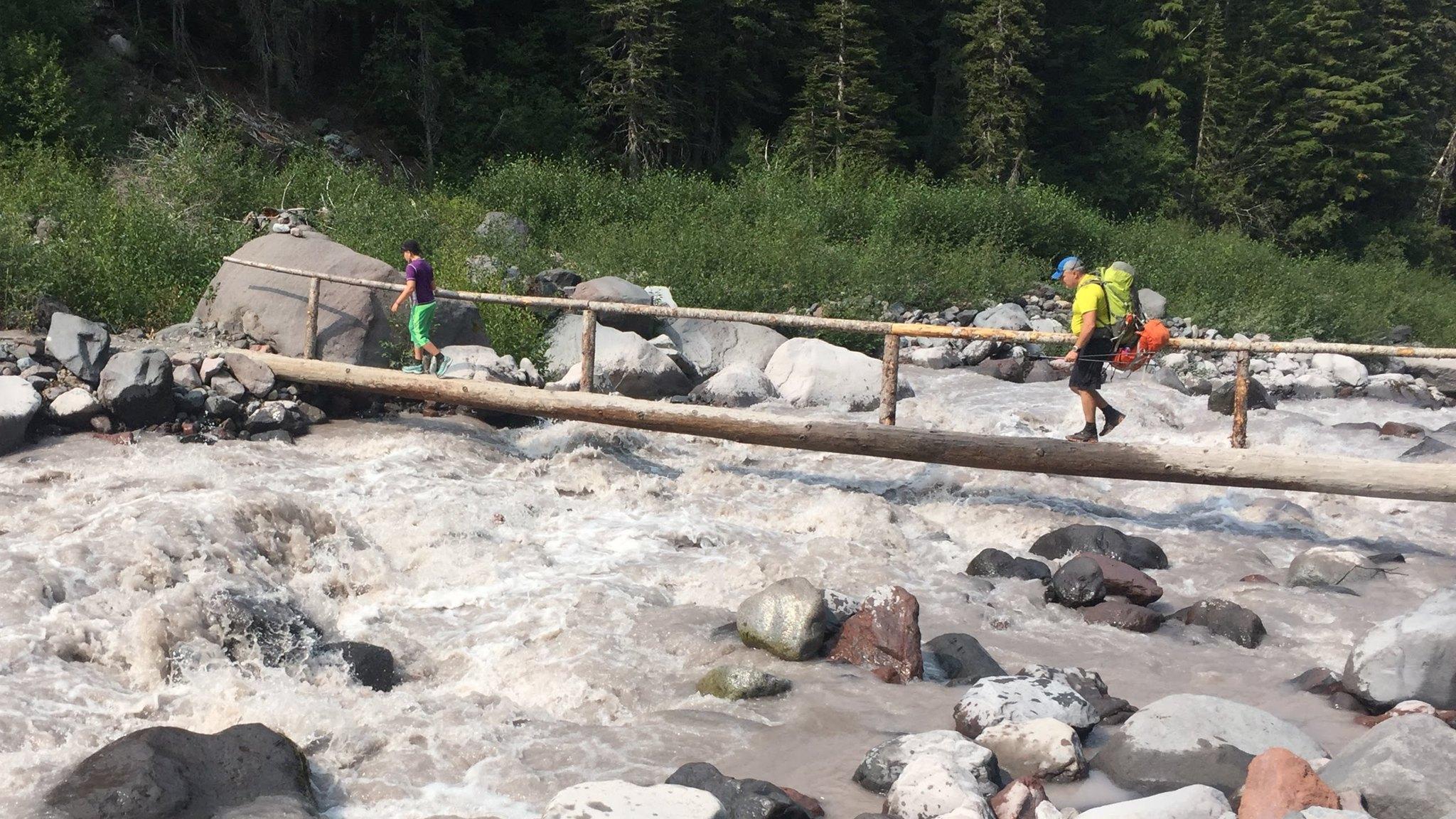 Bart & Casper crossing the West Fork of the White River