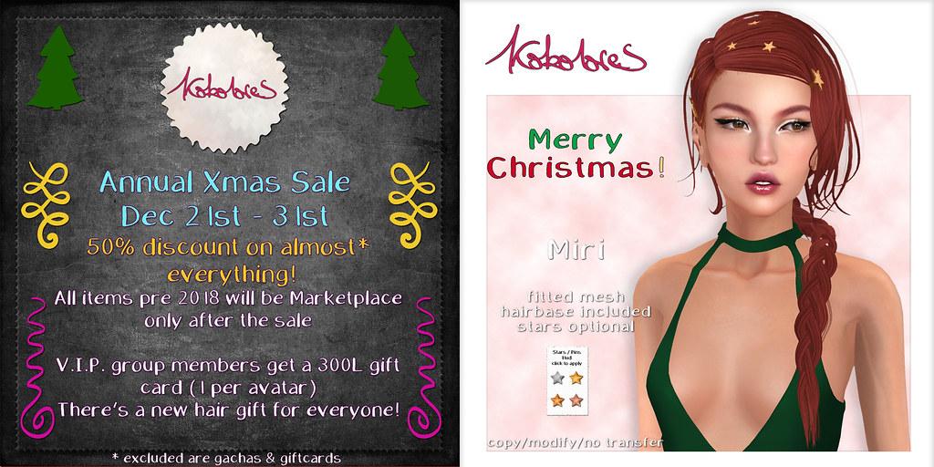 [KoKoLoReS]: Annual Xmas Sale & gift!