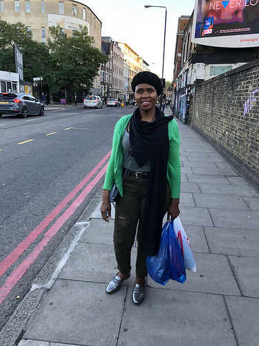119 Shoreditch London Commercial Street with Dee from Botswana Black Beret