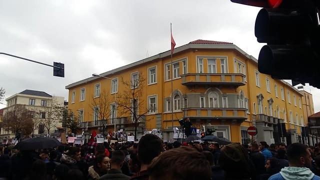 Protesta e studenteve sot